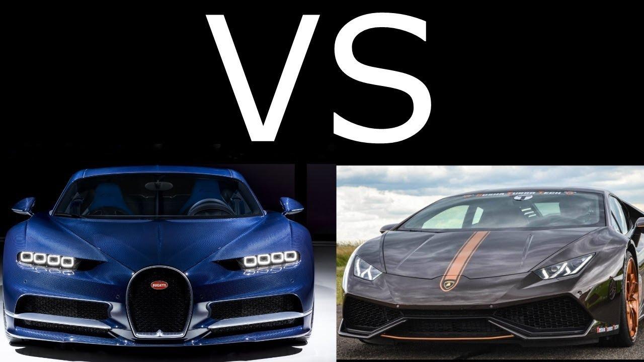 Bugatti Chiron Vs Lamborghini Huracan Gtt 1439hp Acceleration It S Incradible