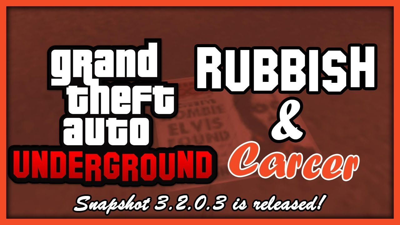 GTA: Underground | Carcer City Props & Rubbish