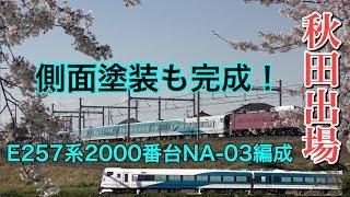 【今度は完成?】E257系2000番台NA-03編成配給・行田〜吹上駅