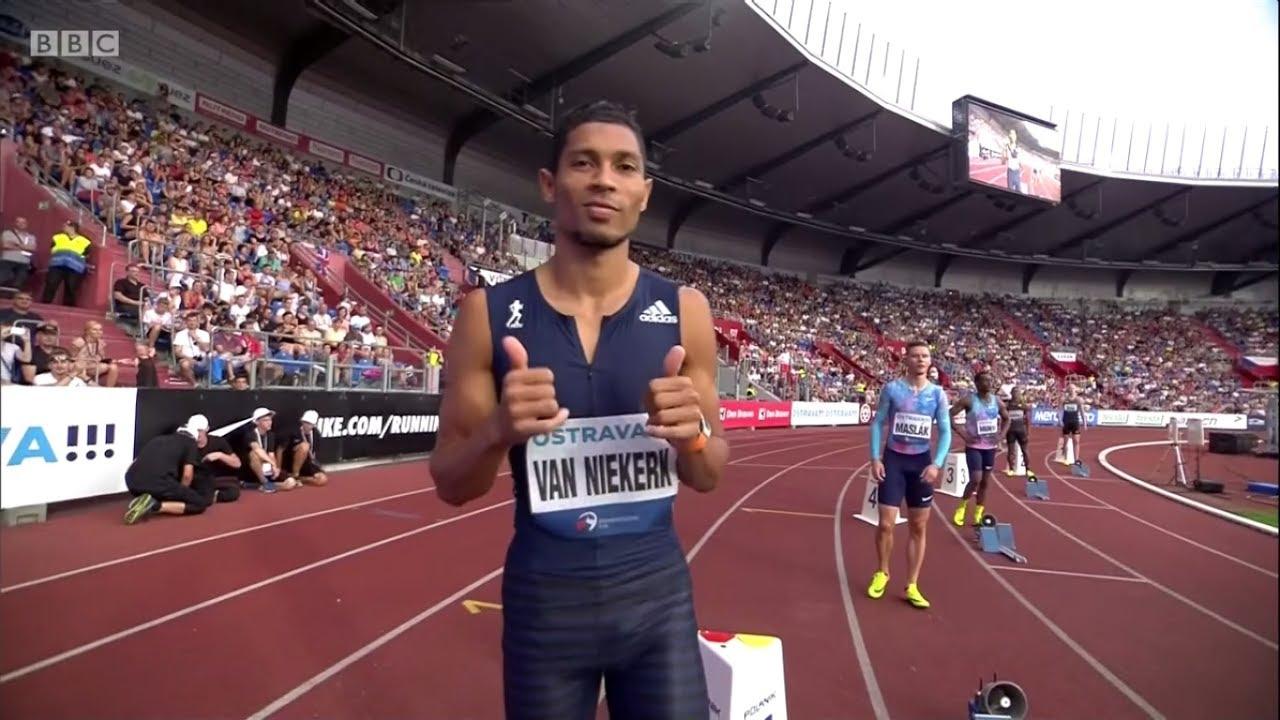 Wayde van Niekerk 300m Sets World Record Of 30.82 In Golden Spike Ostrava.