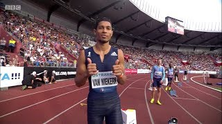 Wayde van Niekerk 300m World Record (30.81) Golden Spike Ostrava 2017 [English]