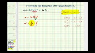 ex 9 the derivative of f x ln ln 5x