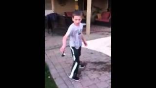 Luke gets pushed I'n a pool