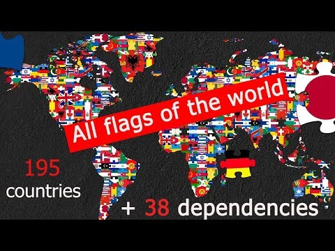 Flags Of All 195 Countries In The World + 38 Dependencies And Other Territories.