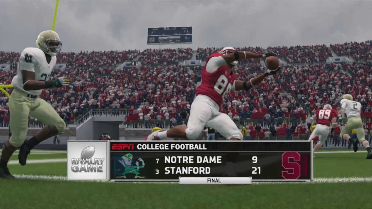 football game stats stanford notre dame score