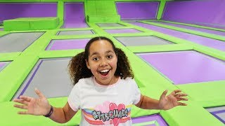 BEST HIDE AND SEEK SPOT IN TRAMPOLINE PARK!!