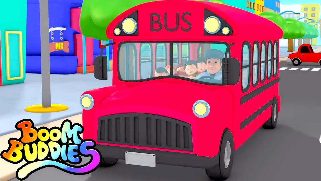 Roda di bus | Lagu anak anak | Boom Buddies Indonesia | Bayi sajak | Kartun untuk anak