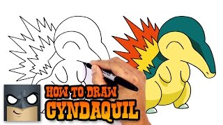 How to Draw Cyndaquil | Pokemon