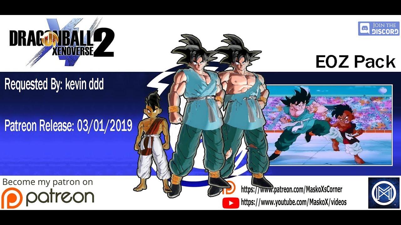 Dragon Ball Xenoverse 2 - End Of Z Pack (Goku EOZ & Kid Uub) - (Showcase)  MOD - YouTube