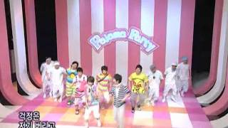 Superjuiorhappy - Pajama Party @SBS Inkigayo 인기가요 20080803