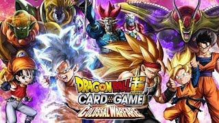 NEW DRAGON BALL SUPER CARD GAME COLLOSAL WARFARE TRAILER REACTION!
