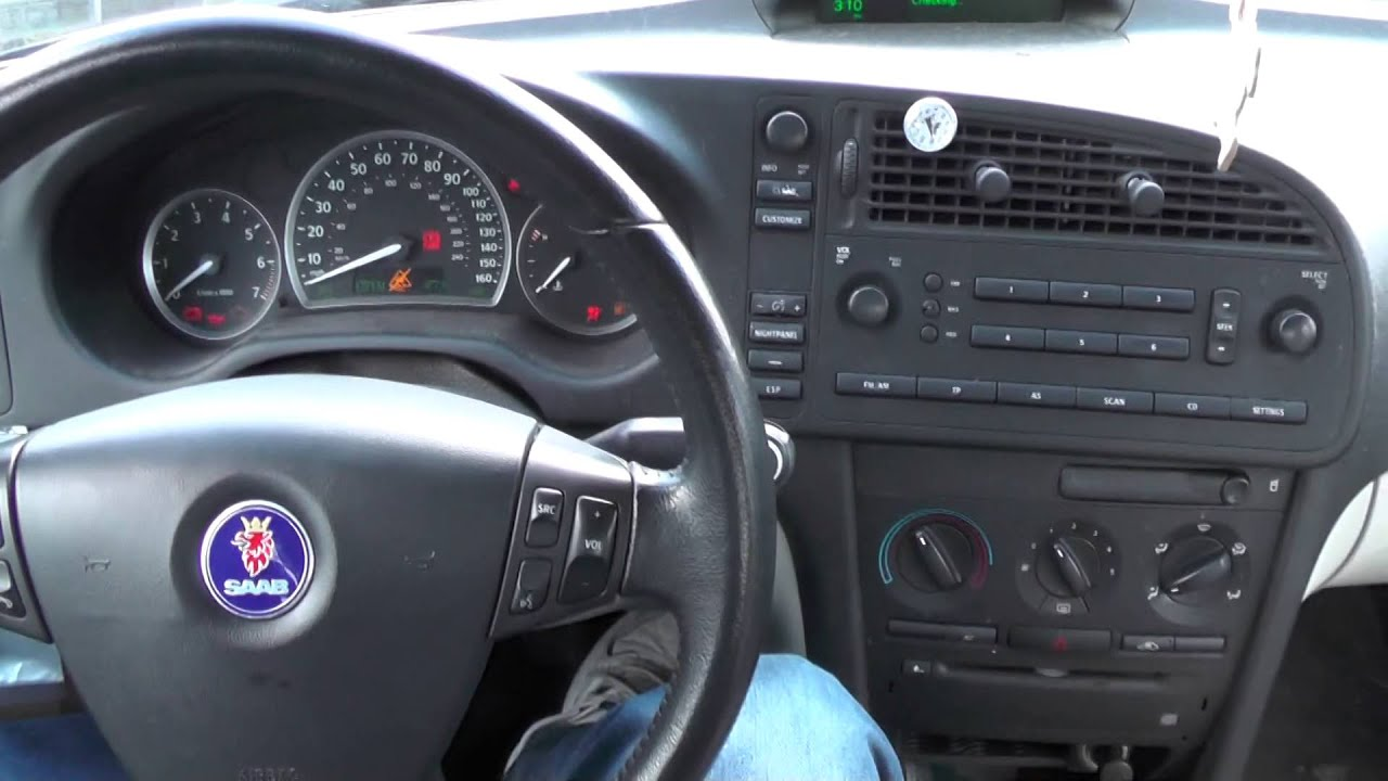 2005 saab 9 3 linear engine start up youtube. Black Bedroom Furniture Sets. Home Design Ideas