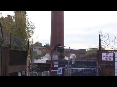 Durban Mill Chimney Demolition. Unedited