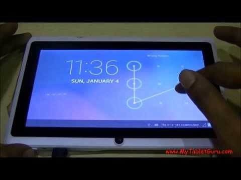 Unlock Pattern Lock On Android Tablet On Single Click Of Button