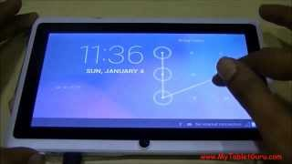 Unlock Pattern Lock on Android Tablet on Single click of Button thumbnail