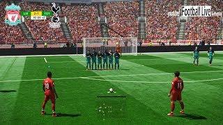 PES 2019 | Liverpool vs Tottenham | S.Mane and M.Salah Free Kick Goal | Gameplay PC