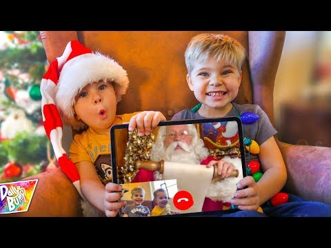 Top Secret Santa FaceTime Call! (THE LIST!!!)