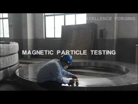 forging process magnetic  particle testing