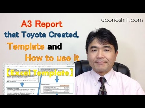 A3 Report that Toyota Created, Template and How to Use it【Excel Template Practice】