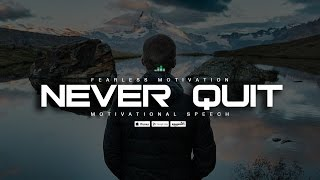 Never Quit! An Uplifting Speech Featuring Walter Bond