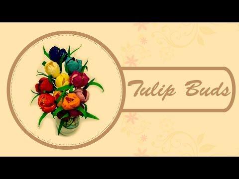 DIY : Tulip Buds | Simple Flower Design | Children Art & Craft