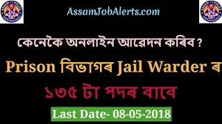 HOW TO APPLY ONLINE FOR THE RECRUITMENT 2018 OF JAIL WARDER IN PRISON DEPARTMENT ASSAM POLICE