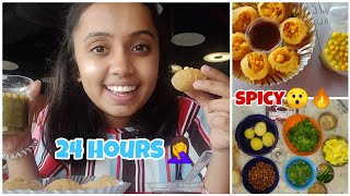 I only ate PANIPURI for 24 hours🙄 |gopsvlogs