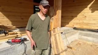 Покраска(пропитка) лазурью Remmers и шлифовка дома из профильного бруса проект