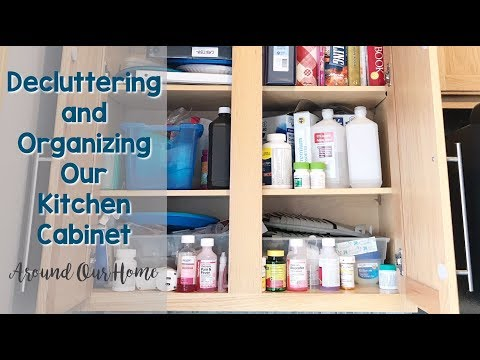 Organizing the Kitchen Cabinet | Around Our Home