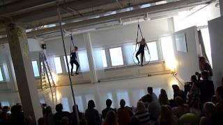 Aerial Hoop Dance group - Vertical Club Springshow 2015