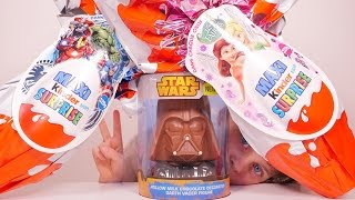[OEUF] Choco Star Wars à gagner, Maxi Kinder Surprise Disney Fairies & Avengers - Unboxing Eggs