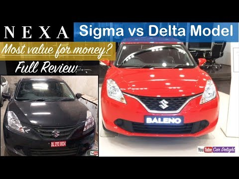 Maruti Baleno Sigma vs Delta Model Interior and Exterior Review