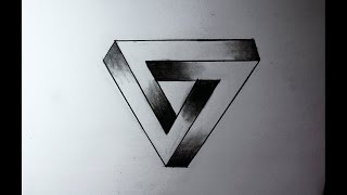 Como desenhar um triangulo 3D!! / How to draw a 3D triangle