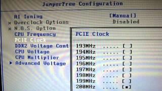 asus m2n-e cpu core bios voltage зміна налаштувань в біосі