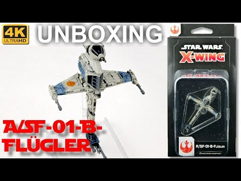 Star Wars X-Wing 2. Edition: A/SF-01-B-Flügler - WELLE 4 - Unboxing - A/SF-01 B-Wing (4K)