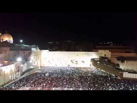 Amazing selichot at the western wall