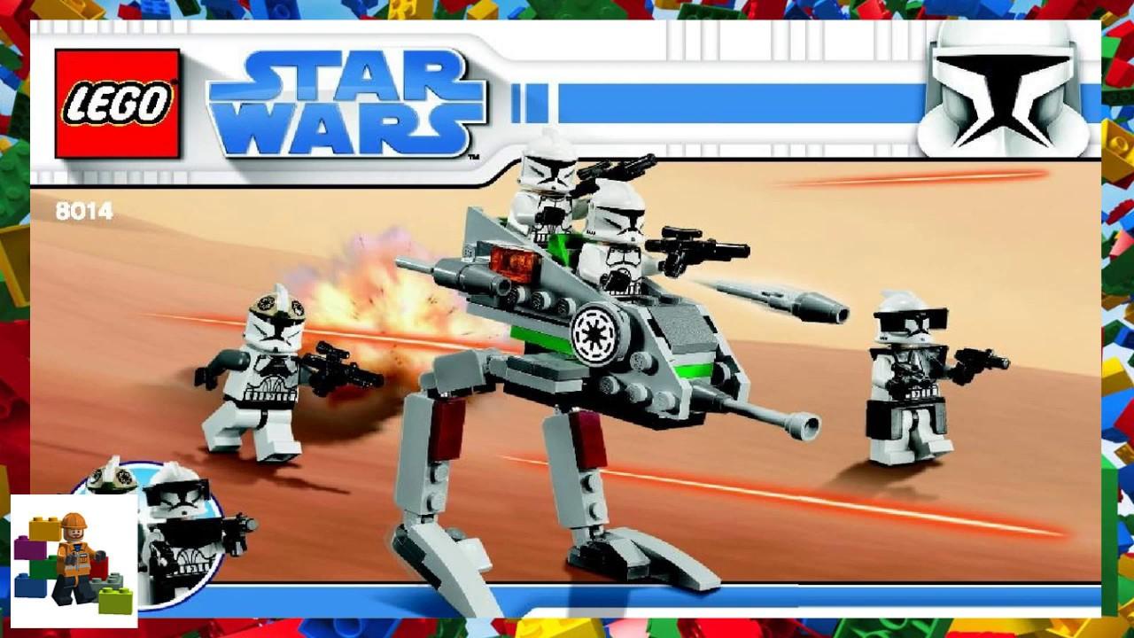 Lego Instructions Star Wars 8014 Clone Walker Battle Pack