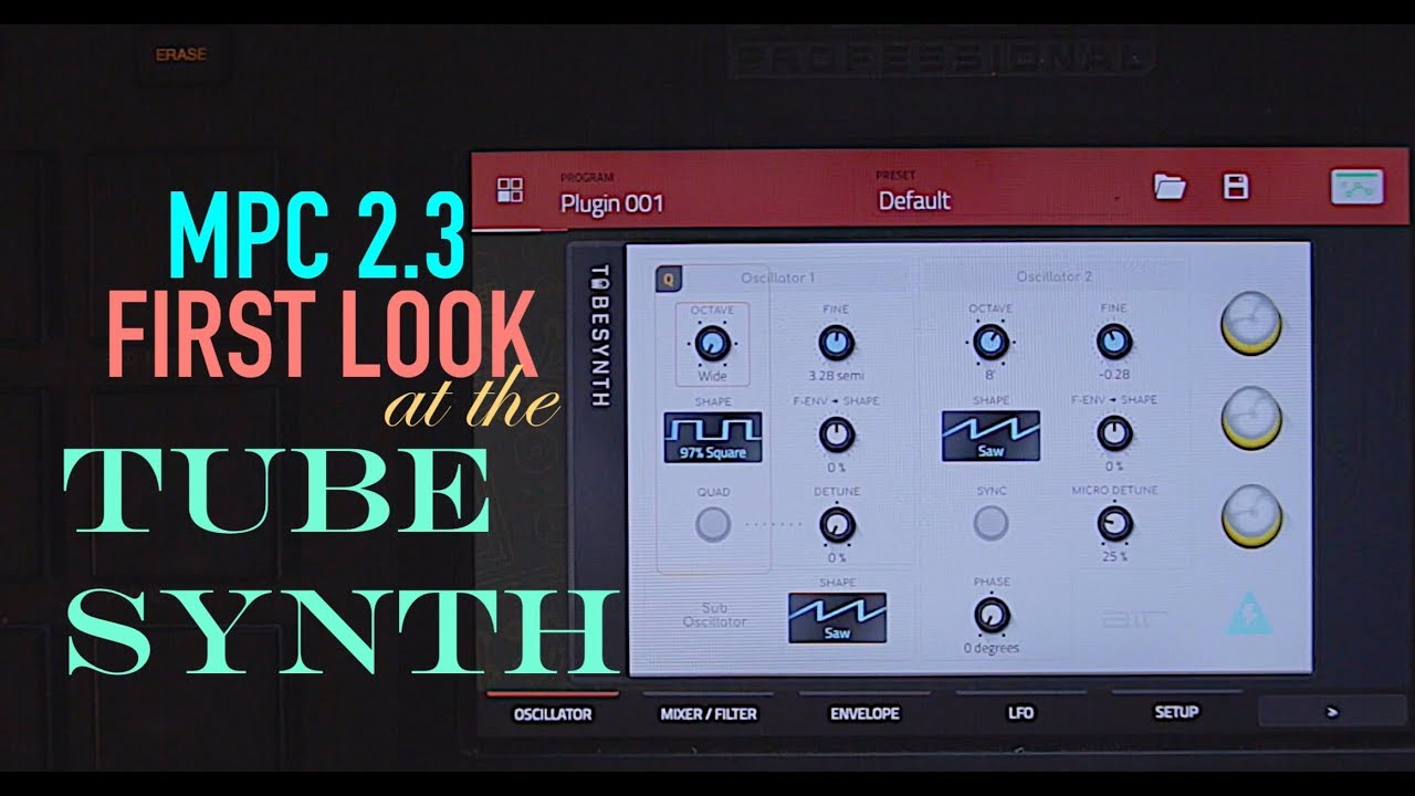 First Look at MPC 2 3 Tube Synth - mpc synthesizer for standalone
