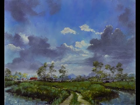 Island Farm - Time Lapse Painting