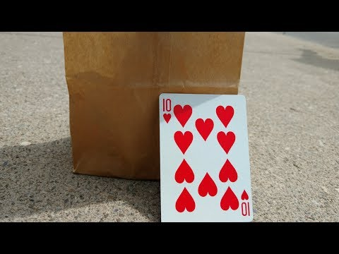 DO IMPOSSIBLE MAGIC WITH A PAPER BAG! (CARD TRICK REVEALED!)