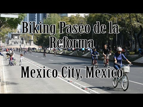 Biking at Paseo de la Reforma | FREE Bike Rentals | English | Subtitles | Mexico City | Mexico