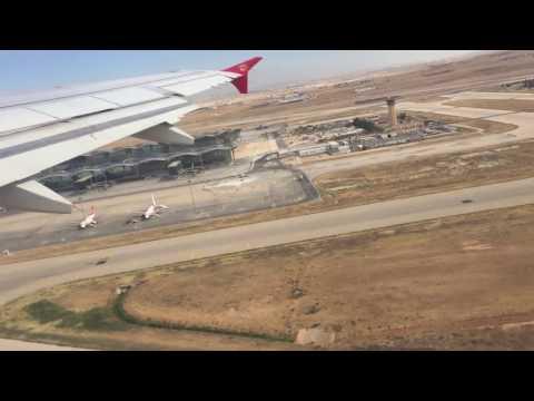 Royal Jordanian A319 take off from Amman QAIA