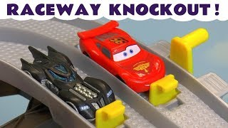 Cars 3 McQueen with Hot Wheels Toy Story 4 and Transformers Heroes in this Racing Challenge