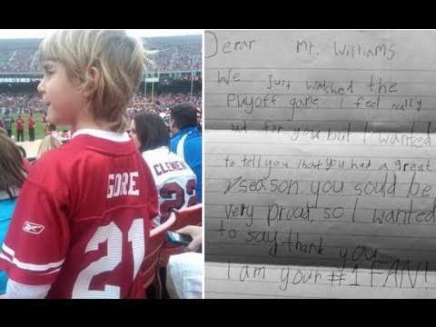 Kid Writes Letter to Kyle Williams