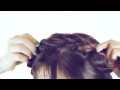 ★unicorn-hair-tutorial- -cute-hairstyles-rope-milkmaid-braid- -braided-updo-for-medium-long-hair