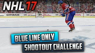 Can I Win a Shootout by Shooting Behind the Blue Line Only? (NHL 17 Challenge)