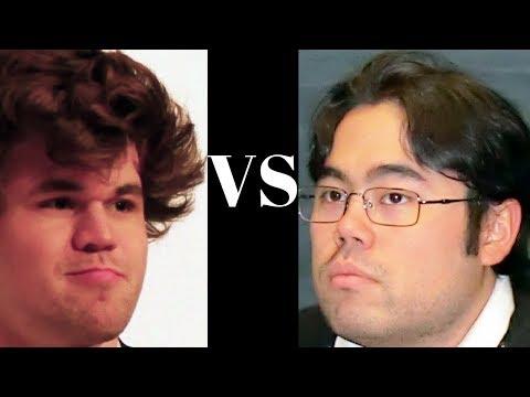 Amazing Chess Game : Magnus Carlsen Vs Hikaru Nakamura - Tata Steel R12 - Sicilian Kalashnikov