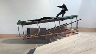 SKATING A TRAMPOLINE DOWN STAIRS | SKATE EVER...