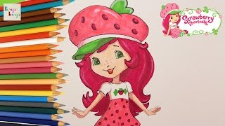 Strawberry Shortcake Drawing Painting Coloring | How to Draw and Color Kids TV