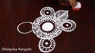 beautifull freehand rangoli design without dots * latest kolam designs * best new muggulu